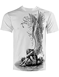 Spiral t-shirt enslaved angel blanc-impression recto-verso