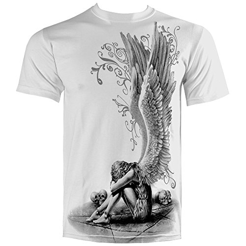 T Shirt Spiral Direct Enslaved Angel (Bianco) - X-Large
