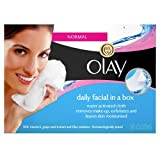 Olay Daily Facial in a Box Water Activated Cleansing Cloths, 30 Wipes