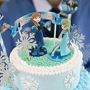 PuTwo Kuchen Toppers 20 Zählungen Handmade Hochzeit Dekoration Party Supplies Cupcake Toppers - Schneeflocke