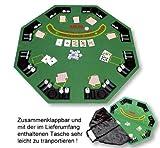 Pokerauflage 'Gambler', mit Tasche für den leichten Transport