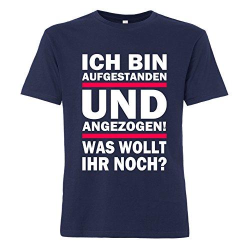 ShirtWorld - Was wollt ihr noch? - T-Shirt Navy