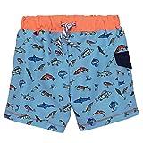 Mud Pie Kids Fish Print Fishing Boys Swim Trunks - Multicoloured - Small