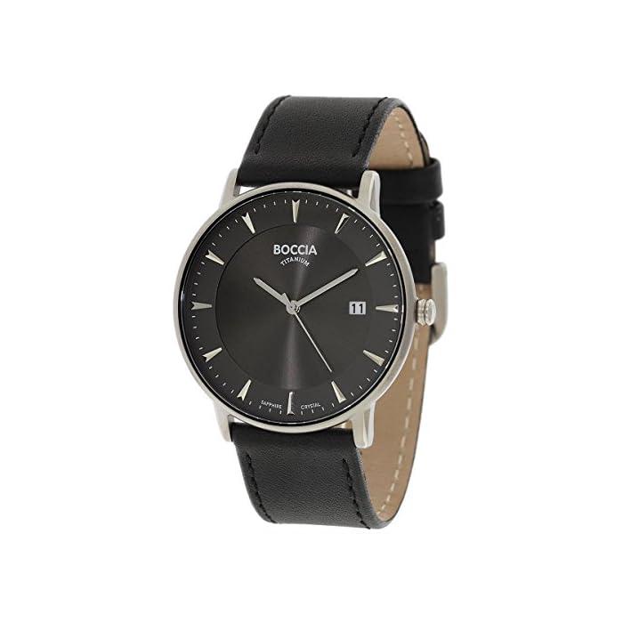 großer Diskontverkauf Großhandelsverkauf erstaunlicher Preis Boccia Herren Digital Quarz Uhr mit Leder Armband 3607-01