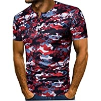 53929e24 KPILP Fashion Men's Summer Printing Casual Short Sleeve T Shirt Top Cotton  Fabric