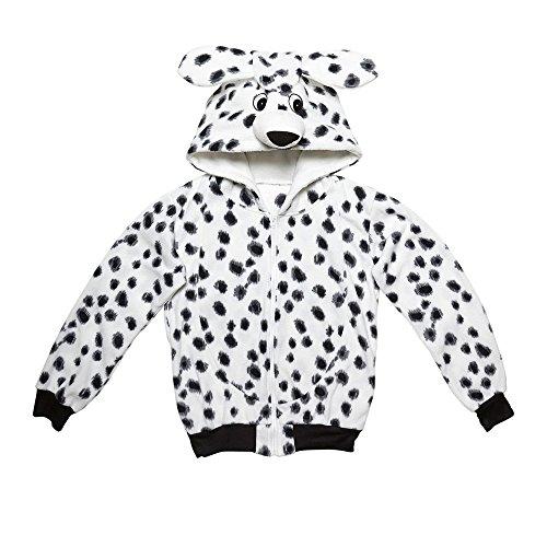 Widmann 07002 - Erwachsenenkostüm Dalmatiner, Kapuzenpullover, weiß, Größe S / M