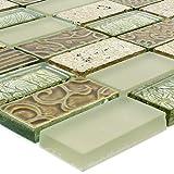 Glas Naturstein Mosaik Fliesen Piroshka Gold