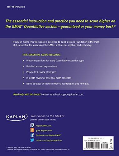 Kaplan GMAT Math Workbook (Kaplan Test Prep)