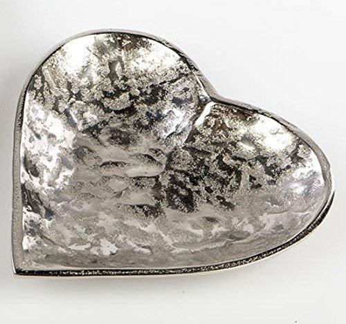 Unbekannt formano Moderne Dekoschale in Herzform Alu Organic, 17 cm