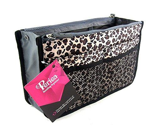 Periea - Sac de rangement/Pochette/Organisateur intérieur pour sac à main , 12 Grandes poches 30x19x9cm - Chelsy Or