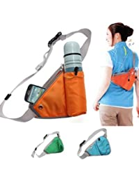 Glive Travel Sports Triangle Waist Water Bottle Belt Sports Waist Bag Bottle Holding Pouch Travel Bag ( Multi...