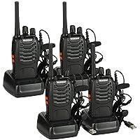 Baofeng BF-88E PMR Radio Set, PMR 446 Walkie Talkie UHF 16-Channel Range 3 KM Radio de Mano con Puerto USB y Auriculares