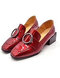 El nuevo lado con un pequeño zapatos cuadrados con un pequeño zapatos redondos con los zapatos ocasionales de los zapatos salvajes , red , 7