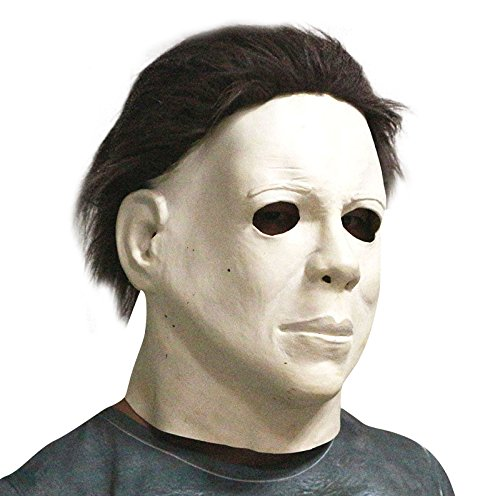 (Michael Myers Horror-Film Killer Maske - perfekt für Fasching, Karneval & Halloween - Kostüm für Erwachsene - Latex, Unisex Einheitsgröße)