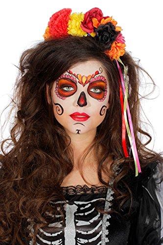 Tag der Toten Haarreif Blumen Bunt Day of the Death Kopfbedeckung Karneval