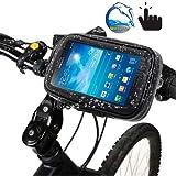 Lanbinxiang@ Support de Guidon vélo étanche/Sable/Neige/poussière Sac à Fermeture à glissière, adapté aux guidons de 21 à 30 mm de diamètre sécurité