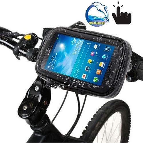 Xiaochou@sl Support de Guidon vélo étanche/Sable/Neige/poussière Sac à Fermeture à glissière, adapté aux guidons de 21 à 30 mm de diamètre sécurité