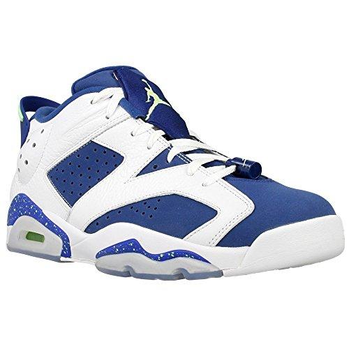 Nike Air Jordan 6 Retro Low, Chaussures de Sport-Basketball Homme, Noir