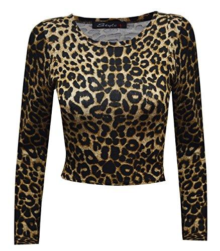 Sugerdiva - Robe - Chemise - Femme Noir noir 23-46 imprimé léopard