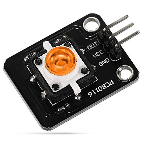 ZhengFei Taktschaltermodul mit LED-Kontrollleuchte für Arduino UNO & MEGA/Himbeer-Pi/AVR / STM32 LDTR-HM004 Fields Board (Color : Yellow) -