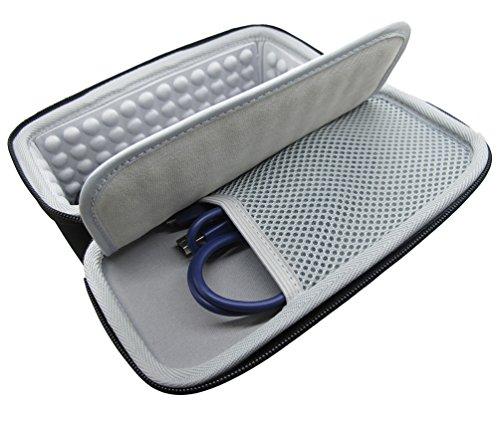 co2UK EVA Duro Viaggio Portare Manica Caso Borsa Astuccio Case Per JBL Charge 2 Portabel Bluetooth Wireless Speaker Altoparlante - Nero EVA-Nero