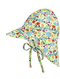 LACOFIA Cappello da Spiaggia Protezione Solare 50 + UPF per Neonato Berretto  Estivo Regolabile per Bambini 798ef80ff3cf