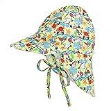 LACOFIA Cappello da Spiaggia Protezione Solare 50 + UPF per Neonato Berretto Estivo Regolabile per Bambini Granchio 2-5 Anni