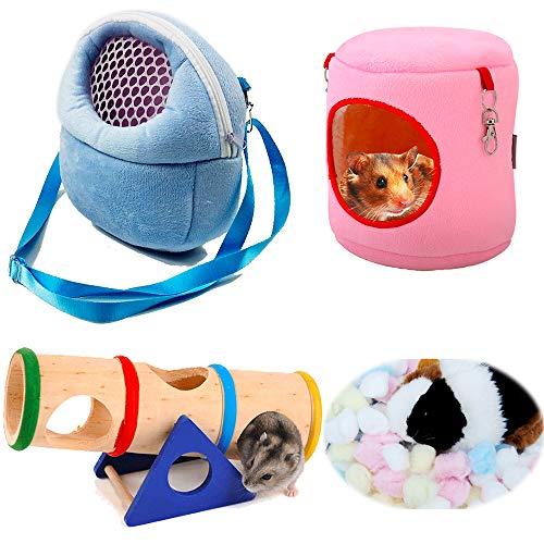 Product Name: Aisamco Haustier-Tragetasche für Hamster, tragbar, Haus, Käfig für kleine Haustiere, Eichhörnchen, Igel, Chinchilla, Kaninchen, Meerschweinchen, Hamster,Spielzeug, für kleine Haustiere
