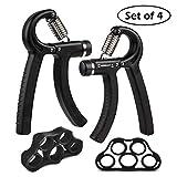 Hollyde Hand Trainingsgerät Fingertrainer,Handmuskeltrainer Einstellbarer Widerstandsbereich, Hand Krafttraining Handgelenk(5-60KG)