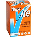 Yeast-Vite - 100 Tablettes Anti Fatigue - Vitamine B et Caféine