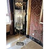 MEILING Europäischen Stil luxuriöse Kristall Stehlampe Schlafzimmer Einfache moderne Wohnzimmer Landung Tischlampe Vertikale Licht Kreatives amerikanisches Licht