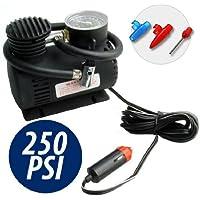 CAOLATOR KFZ Minikompressor Auto-Kompressor mit 1 x Mini Kompressor,1 x Nadeladapter,2 x Zusatzd/üsen,12V Luftkompressor