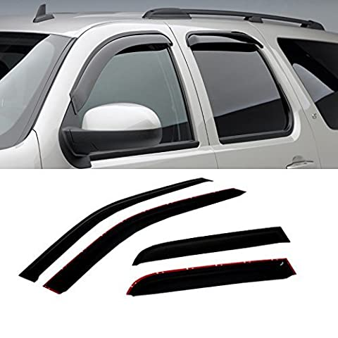 VIOJI 4pcs Dark Smoke Outside Mount Style Sun Rain Guard Vent Shade Window Visors Fit 97-15 Ford Expedition / 98-15 Lincoln Navigator by VIOJI