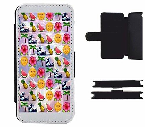 """Leder Flip Case Apple IPhone 5/ 5S/ SE """"Sommer Sonne Strand und Wassermelone Palmen im Paradies Urlaub"""", der wohl schönste Smartphone Schutz aller Zeiten."""