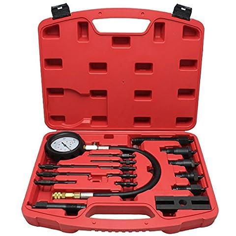 HG Drucktester® Tester Diesel Compression Tester Cylinder Diesel Engine Meter Test Device Device TDI CDI 17PC.