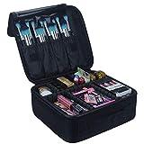 Travelmall Cosmético Organizador-Profesional Maquillaje Case-Travel Maquillaje Herramientas Contenedor (S-negro)