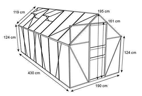 zelsius-aluminium-gewaechshaus-garten-treibhaus-in-verschiedenen-groessen-mit-hohlkammerstegplatten-wahlweise-mit-stahl-fundament-rahmen-190-x-430-cm-6-mm-platten-ohne-fundament-2