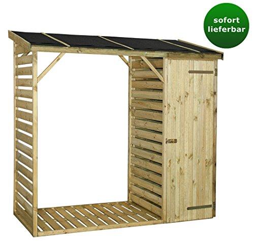 kaminholzunterstand mit schrank abmessungen 220 x 100 x 215 cm l x b x h. Black Bedroom Furniture Sets. Home Design Ideas