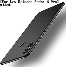 Annure® Slim Back Case Cover for Redmi 6 Pro (Black Matte)