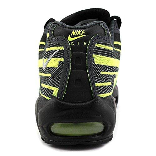 Nike Air Max 95 Jacquard Herren Textile Turnschuhe Black/Silver-Anthracite-Volt