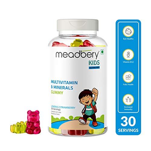 MEADBERY Multivitamin and Mineral Gummy Bears Gluten-Free Formula with Minerals and Vitamins B; C; D; E; B12; B6 for Kids -30 Gummies