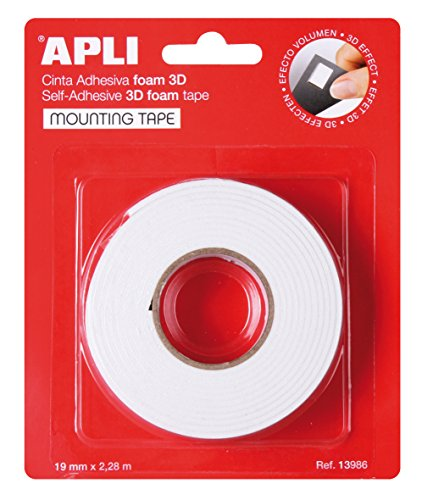 APLI 13986 - Cinta adhesiva foam doble cara 19 mm