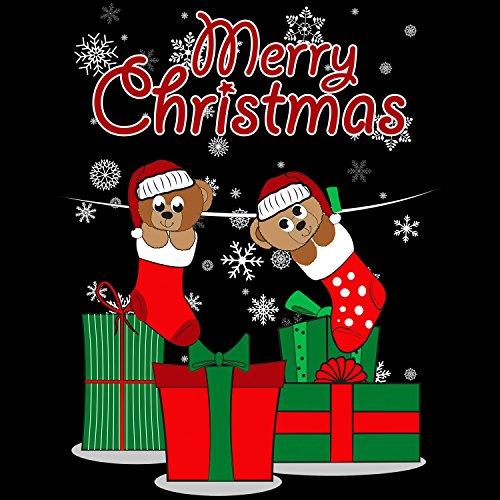 Fashionalarm Herren T-Shirt - Merry Christmas Teddy Bären | Fun Shirt als Geschenk Idee Weihnachten Heiligabend Nikolaus Schwarz