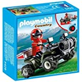Playmobil Country Mountain Rescue Quad - kits de figuras de juguete para niños (Multi)