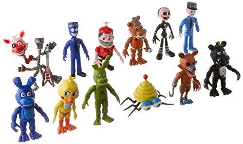 BIGOCT® FNAF Five Nights At Freddy 's Action Figures Juguetes Muñecas (12 Piezas), 10,16 cm, 10,16 cm