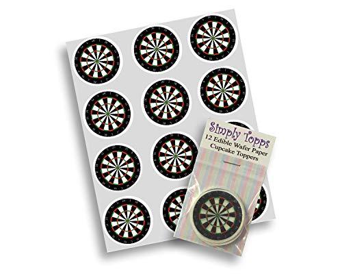 12 Darts Dartscheibe reispapier fee / becher kuchen 40mm cake topper vorschnitt deko