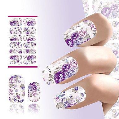 MZP 1 Autocollant d'art de clou Autocollants de transfert de l'eau Maquillage cosmétique Nail Art Design