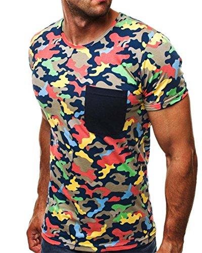 Männer Casual Camouflage Kurzarm Sommer Mode Persönlichkeit Sport T-Shirt