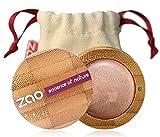 ZAO Cream Eyeshadow 251 kupfer-rosa cremiger Lidschatten, \'Multi-Touch\' als Rouge, Lippenstift, Korrektor, nachfüllbare Bambus-Dose (bio, Ecocert, Cosmebio, Naturkosmetik)