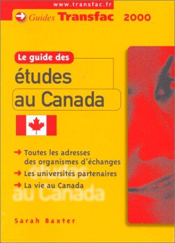 LE GUIDE DES ETUDES AU CANADA